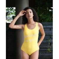 Женский купальник с надписью Atlantic Beach (цельный)